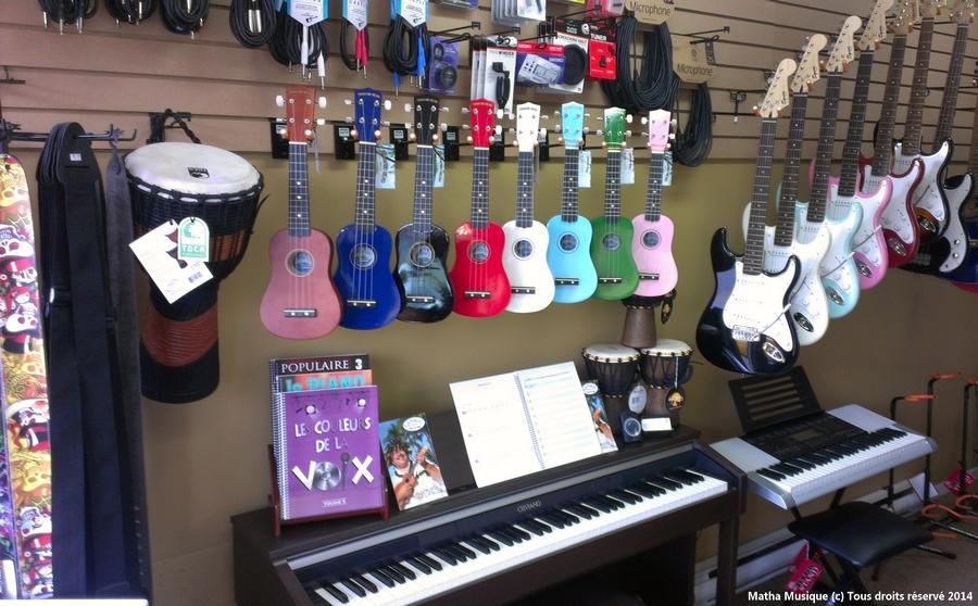 Cours de musique à Saint-Jean-de-Matha région de Lanaudière près des magasins de musique de Joliette.